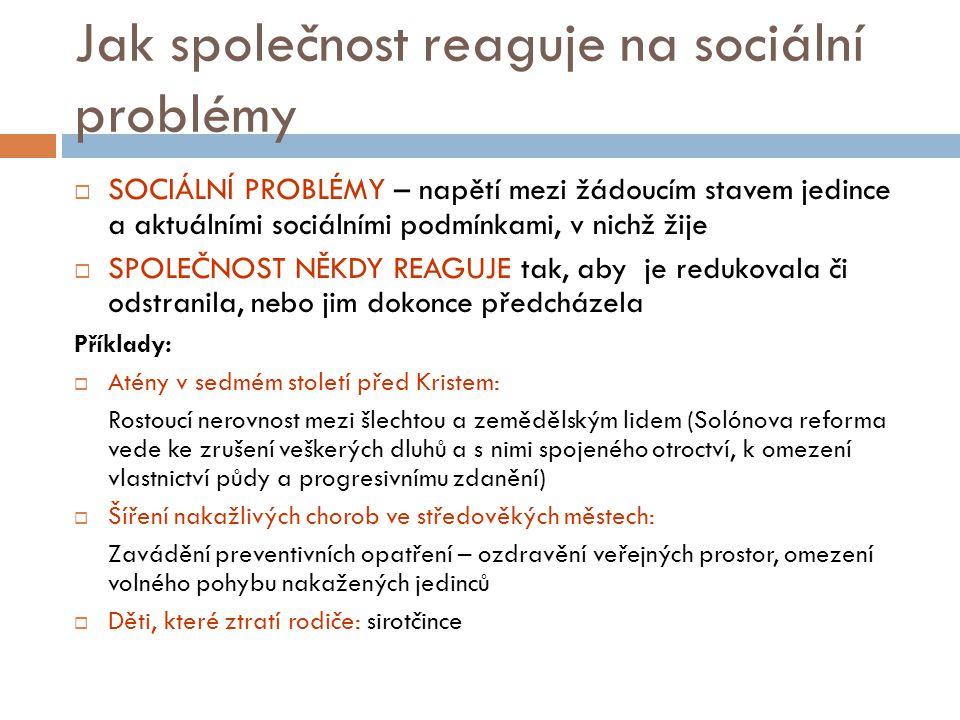 Jak společnost reaguje na sociální problémy