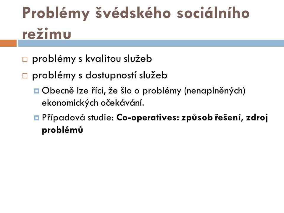 Problémy švédského sociálního režimu