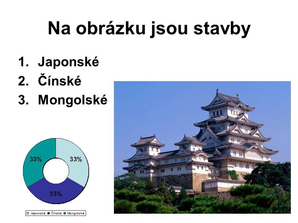 Na obrázku jsou stavby Japonské Čínské Mongolské