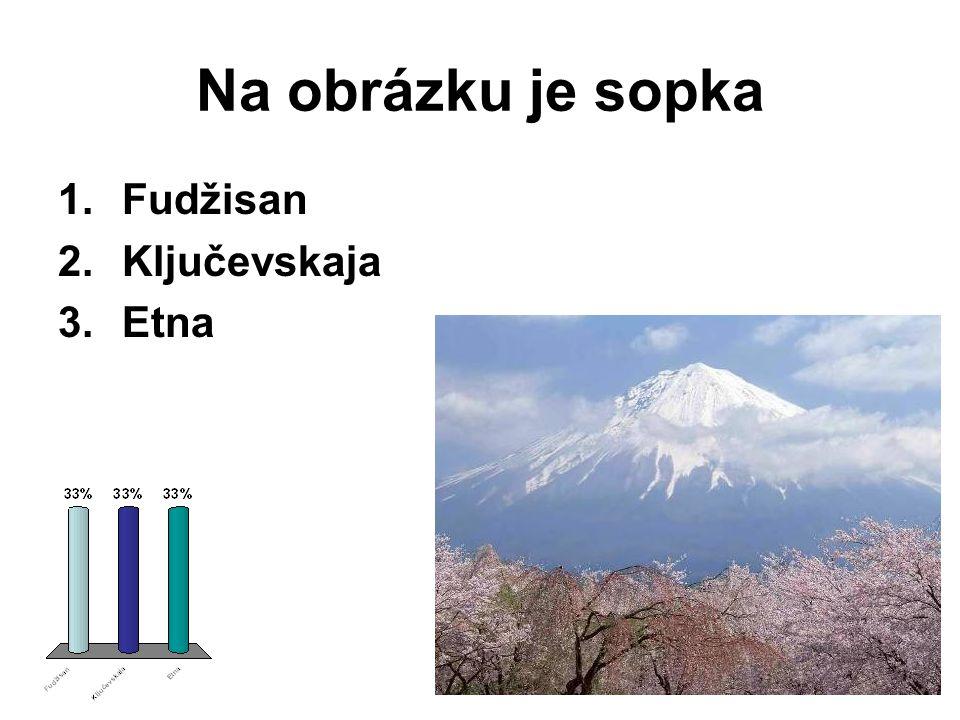 Na obrázku je sopka Fudžisan Ključevskaja Etna