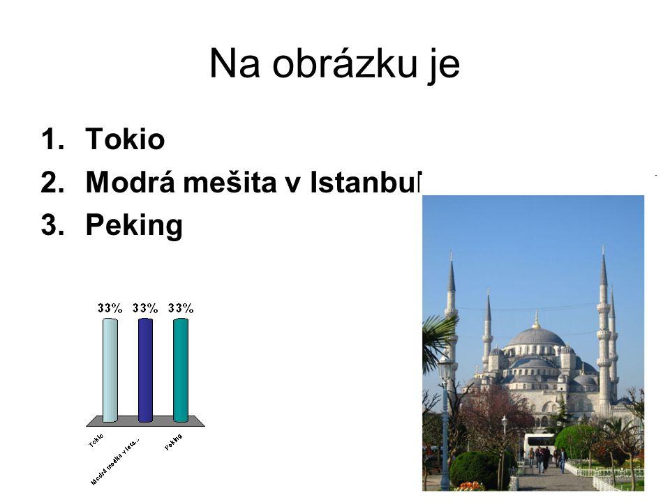 Na obrázku je Tokio Modrá mešita v Istanbulu Peking