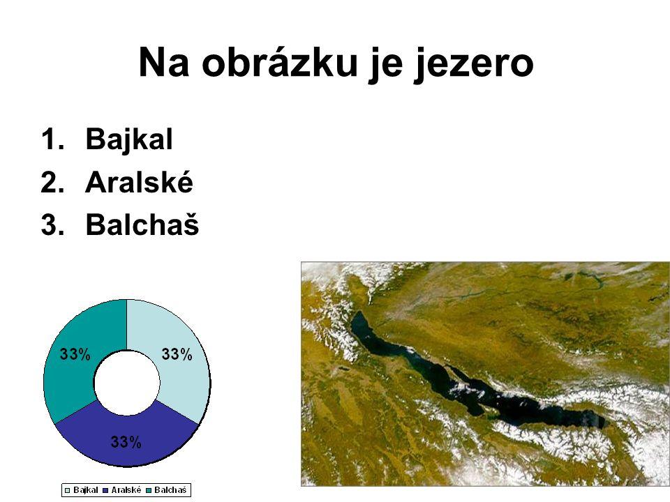 Na obrázku je jezero Bajkal Aralské Balchaš