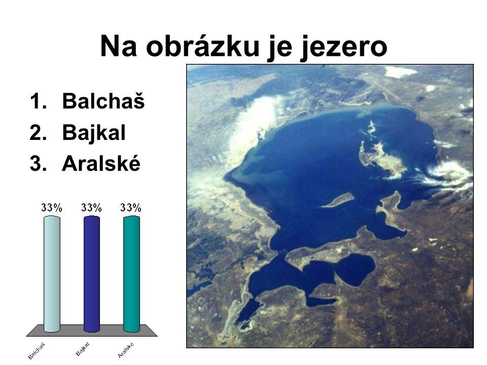 Na obrázku je jezero Balchaš Bajkal Aralské
