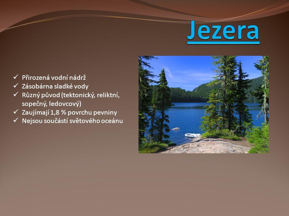 Jezera Přirozená vodní nádrž Zásobárna sladké vody