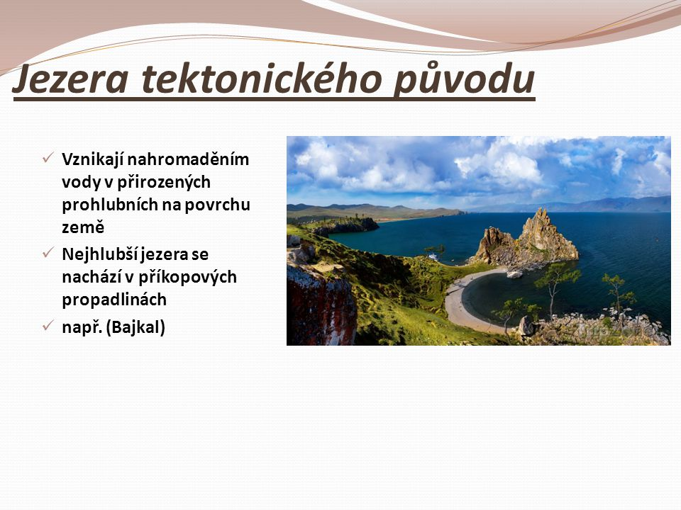 Jezera tektonického původu