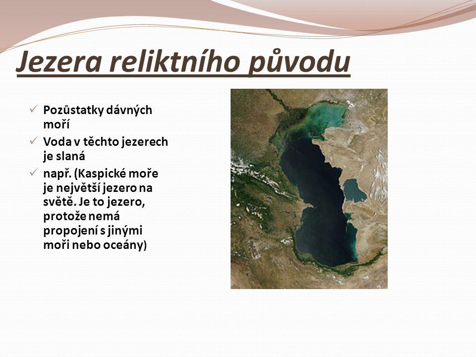 Jezera reliktního původu