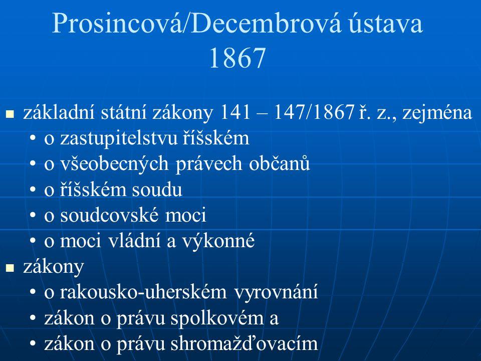Prosincová/Decembrová ústava 1867
