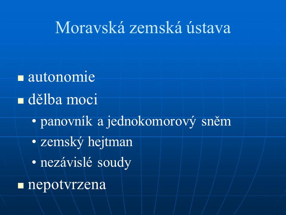 Moravská zemská ústava