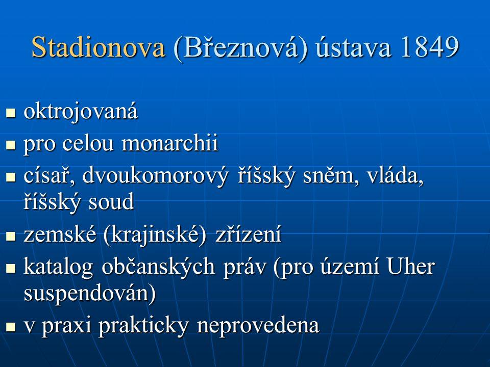 Stadionova (Březnová) ústava 1849