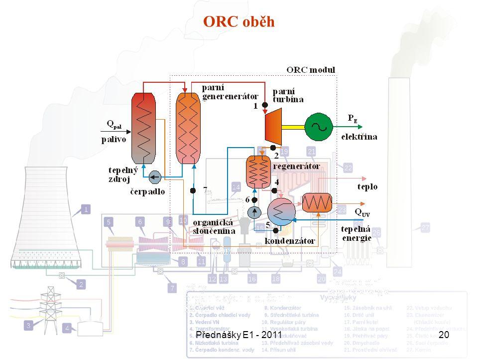 ORC oběh Přednášky E1 - 2011