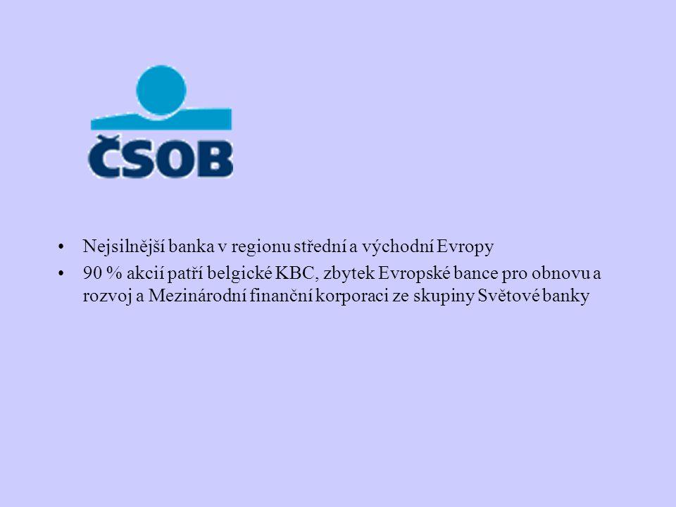 Nejsilnější banka v regionu střední a východní Evropy