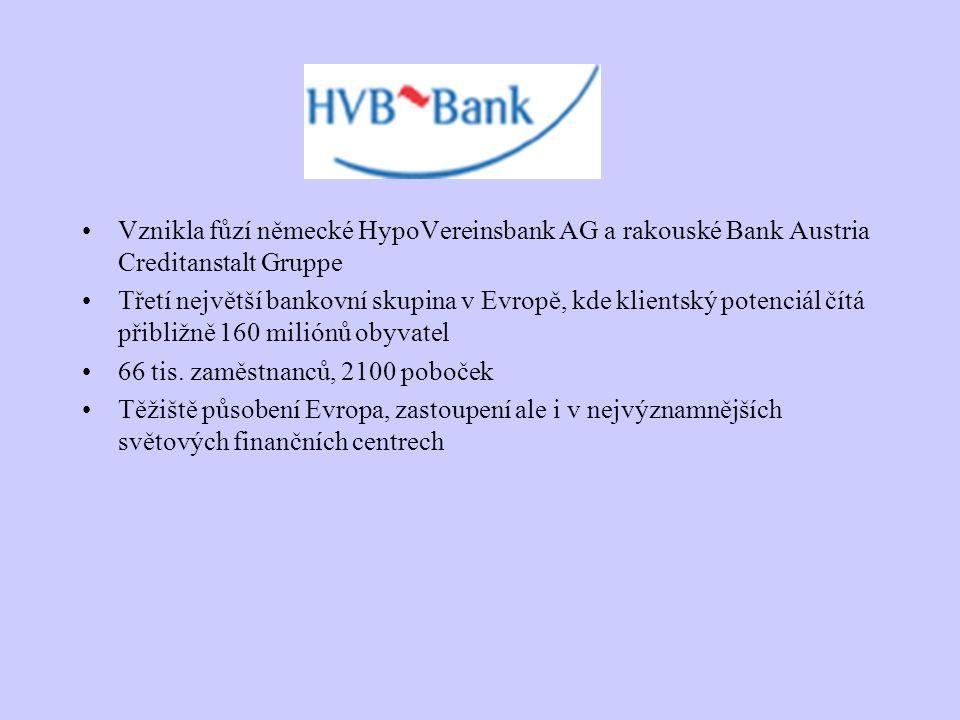 Vznikla fůzí německé HypoVereinsbank AG a rakouské Bank Austria Creditanstalt Gruppe