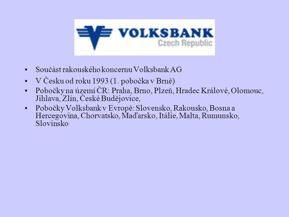 Součást rakouského koncernu Volksbank AG