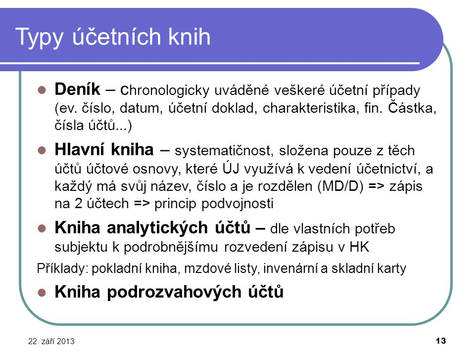 Typy účetních knih