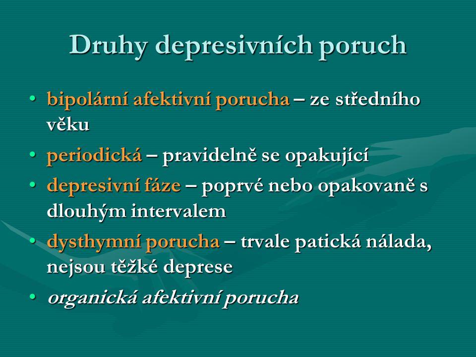 Druhy depresivních poruch