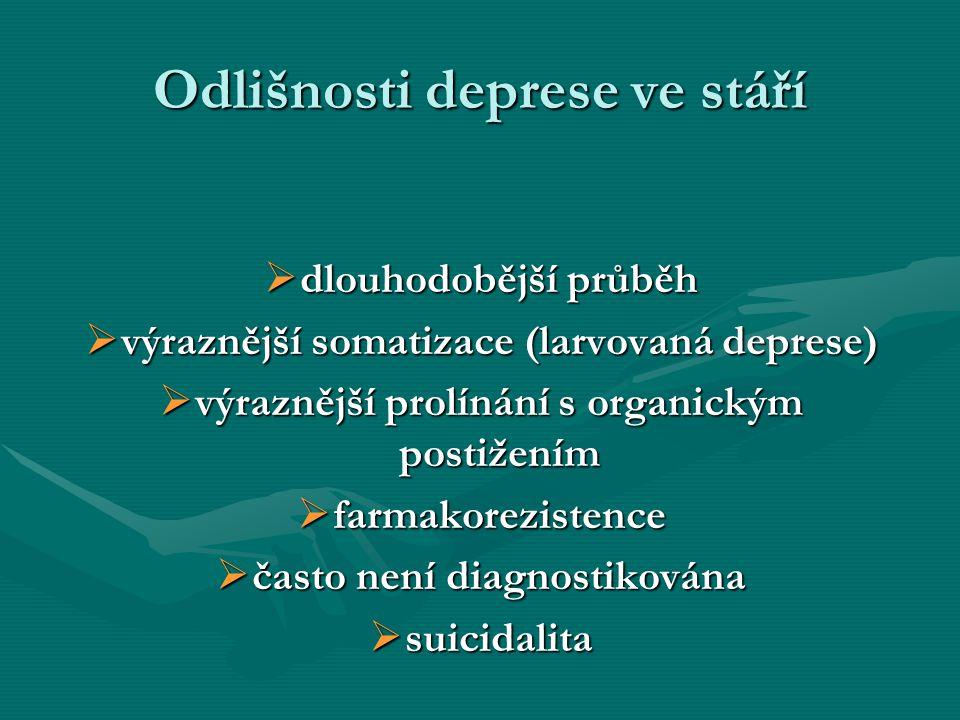 Odlišnosti deprese ve stáří