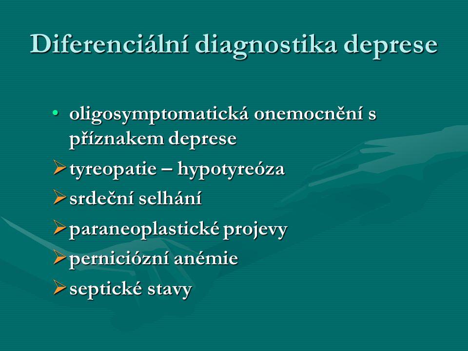 Diferenciální diagnostika deprese