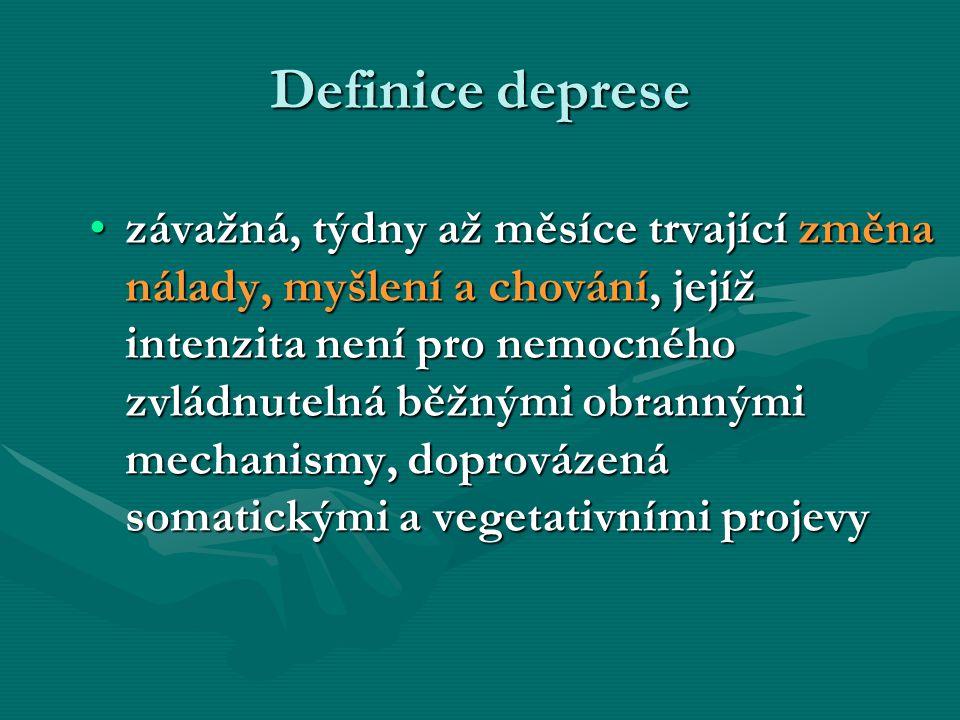 Definice deprese