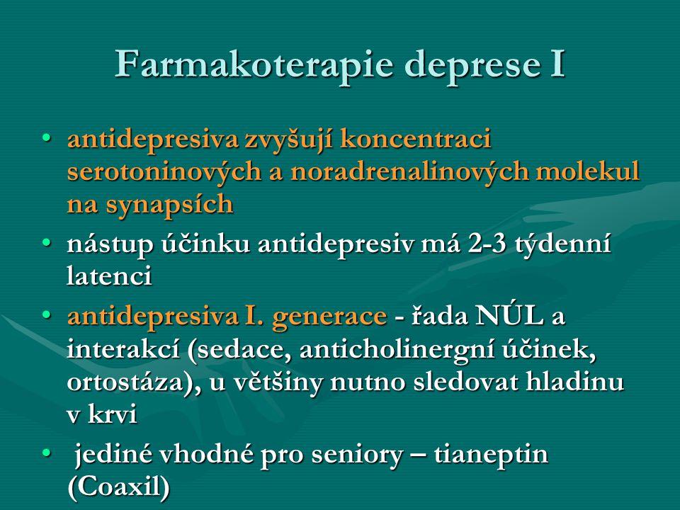 Farmakoterapie deprese I