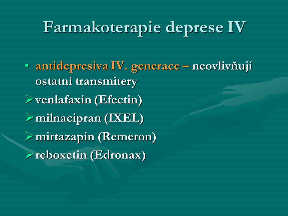 Farmakoterapie deprese IV