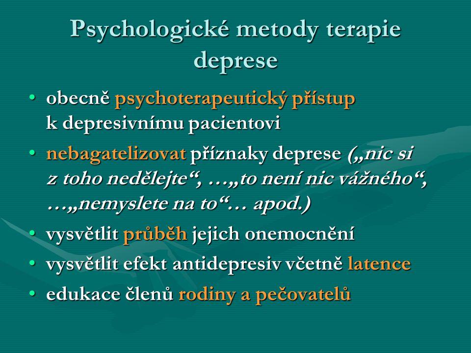 Psychologické metody terapie deprese
