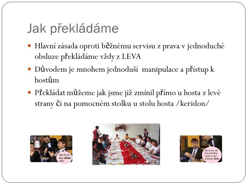 Jak překládáme Hlavní zásada oproti běžnému servisu z prava v jednoduché obsluze překládáme vždy z LEVA.