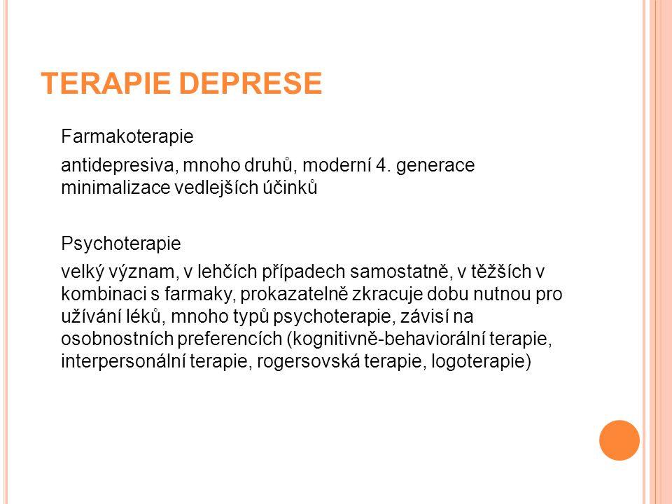 TERAPIE DEPRESE Farmakoterapie