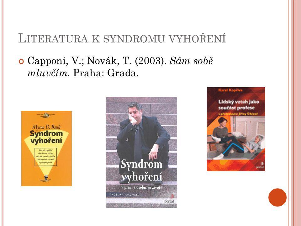Literatura k syndromu vyhoření