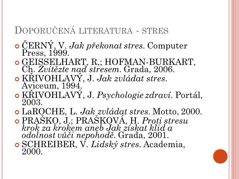 Doporučená literatura - stres