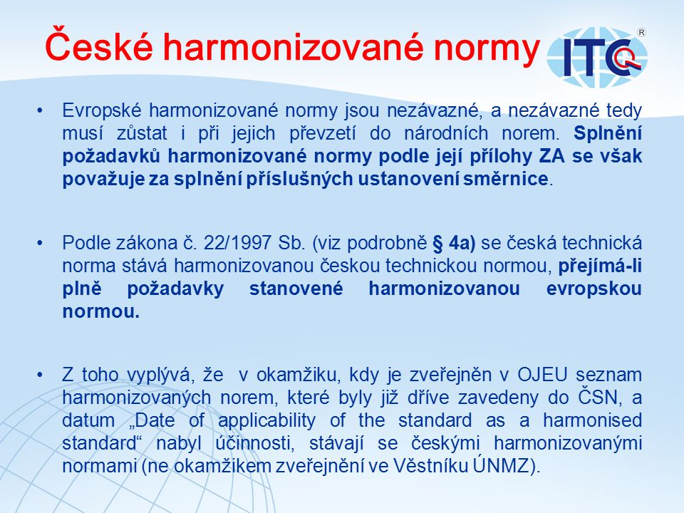 České harmonizované normy