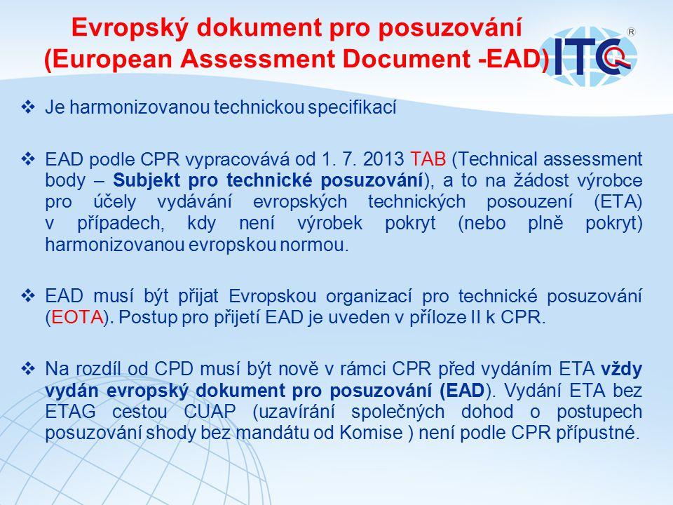 Evropský dokument pro posuzování (European Assessment Document -EAD)