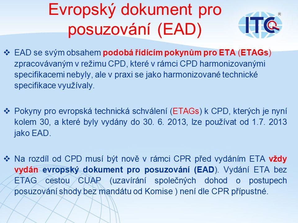 Evropský dokument pro posuzování (EAD)