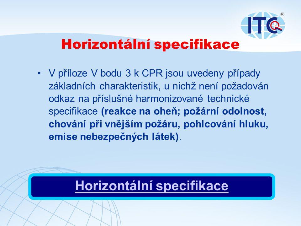Horizontální specifikace