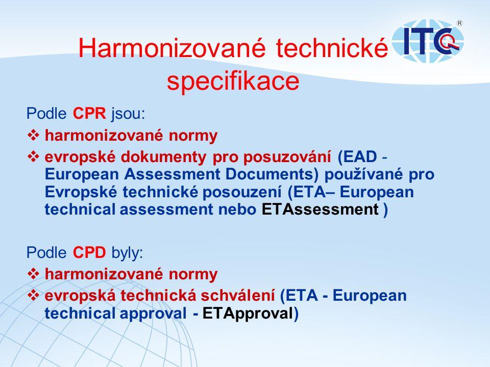 Harmonizované technické specifikace
