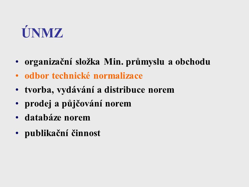 ÚNMZ organizační složka Min. průmyslu a obchodu