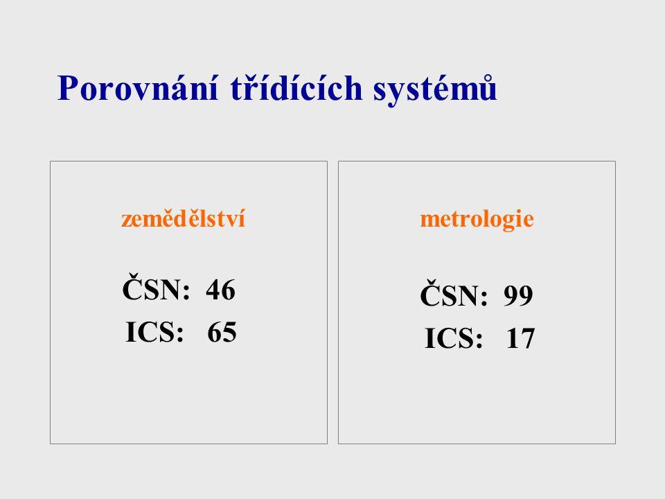 Porovnání třídících systémů