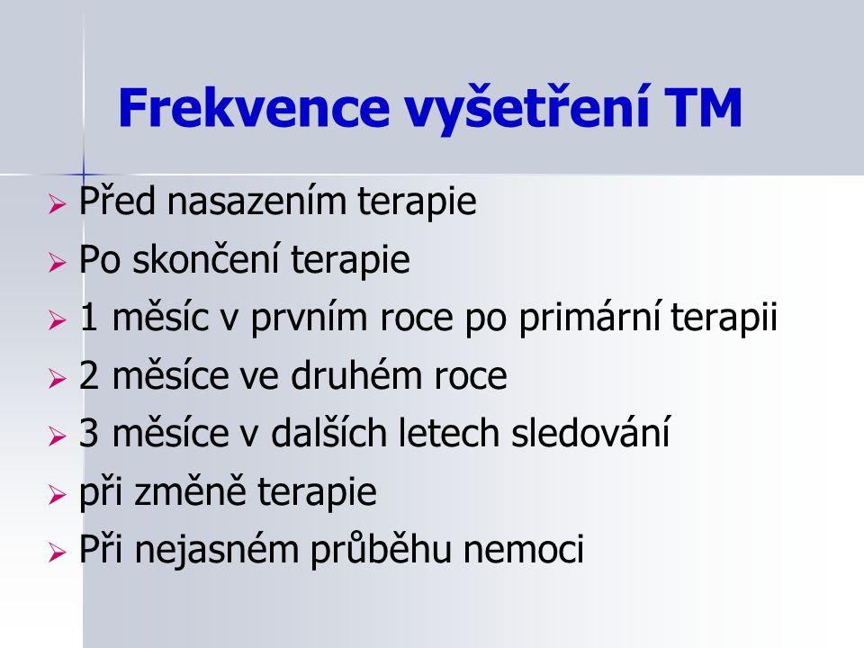 Frekvence vyšetření TM