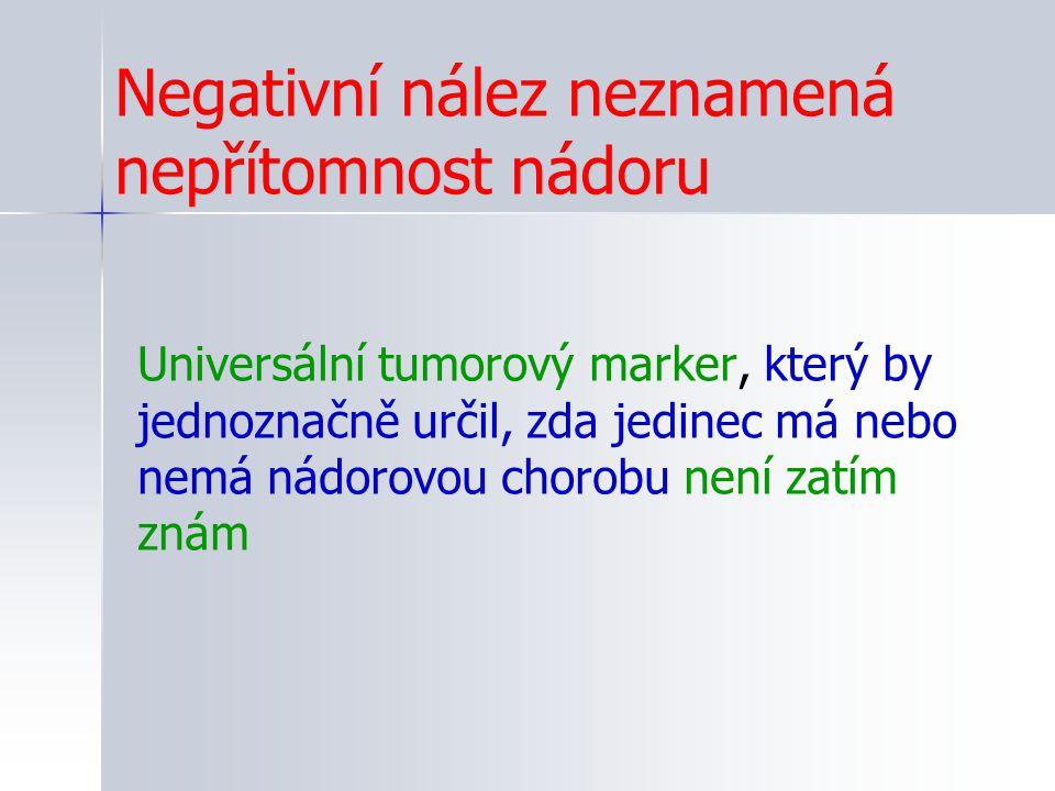 Negativní nález neznamená nepřítomnost nádoru