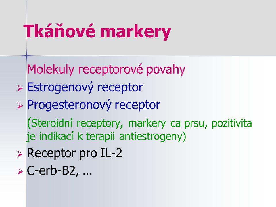 Tkáňové markery Molekuly receptorové povahy Estrogenový receptor