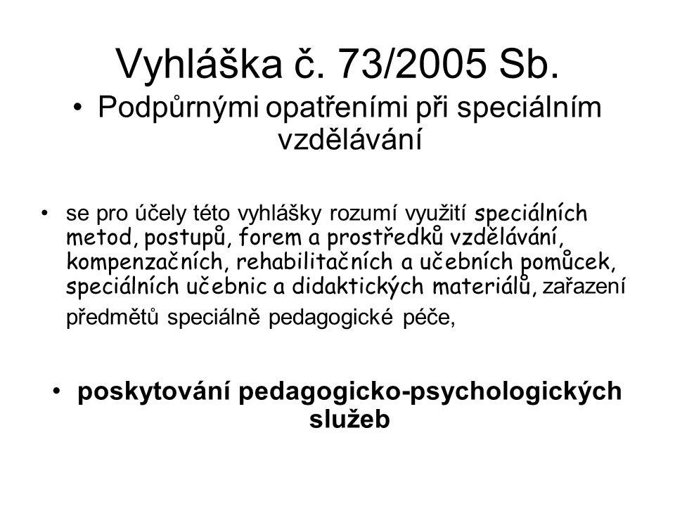 poskytování pedagogicko-psychologických služeb