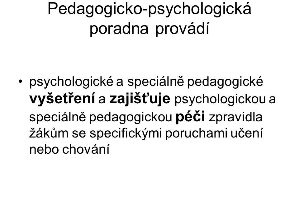Pedagogicko-psychologická poradna provádí