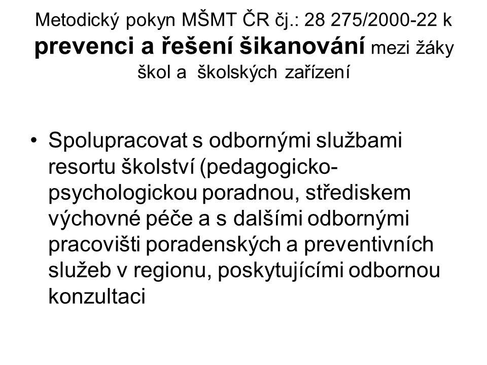 Metodický pokyn MŠMT ČR čj