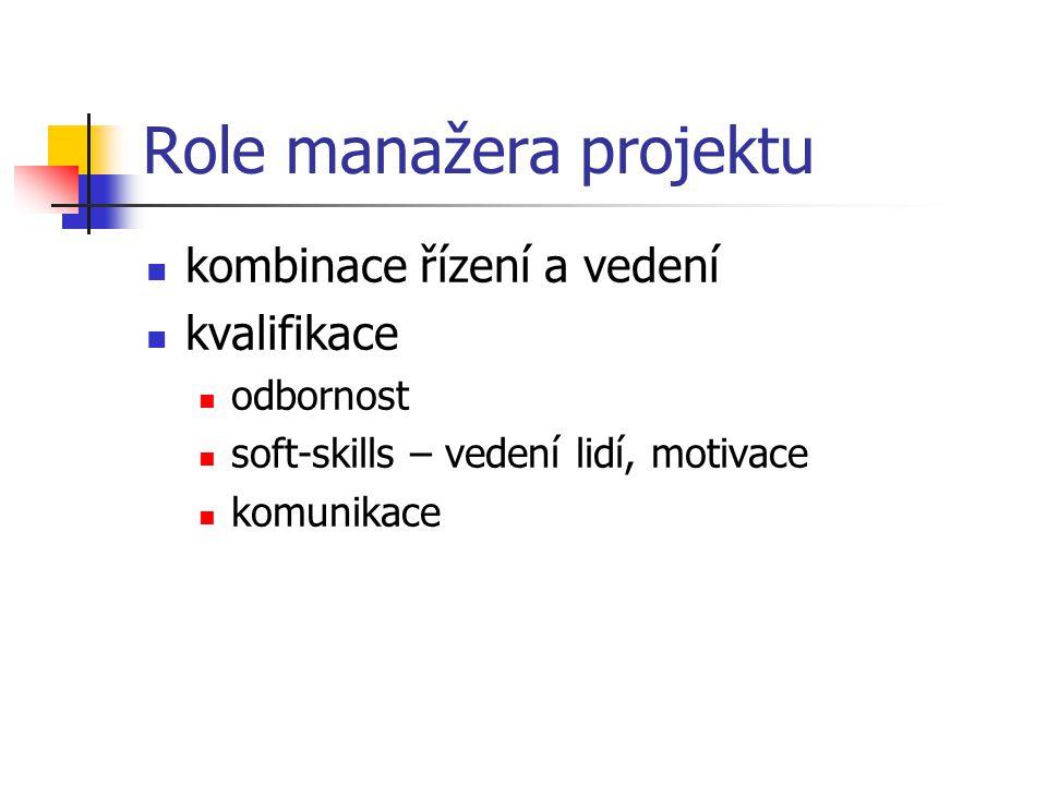 Role manažera projektu