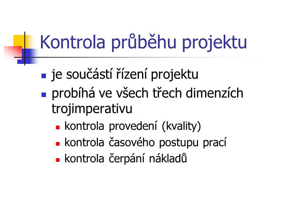 Kontrola průběhu projektu