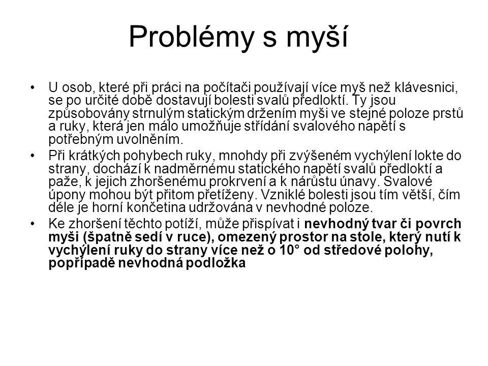 Problémy s myší