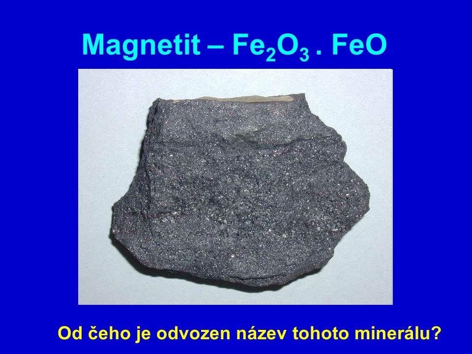 Od čeho je odvozen název tohoto minerálu
