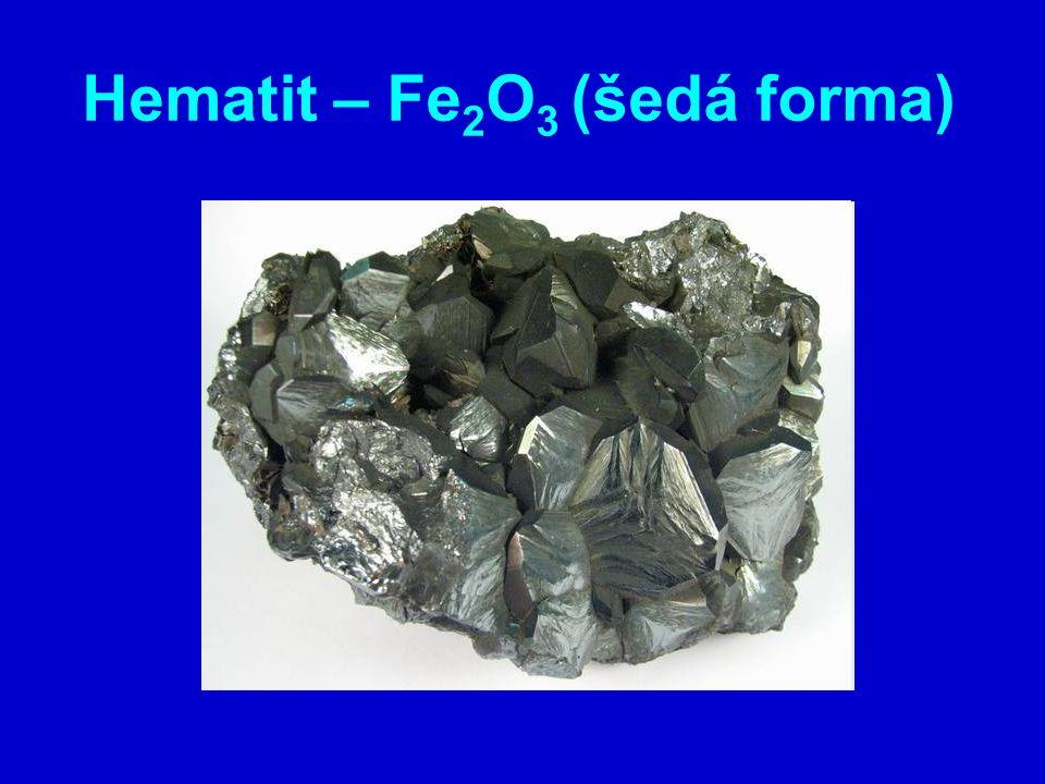 Hematit – Fe2O3 (šedá forma)