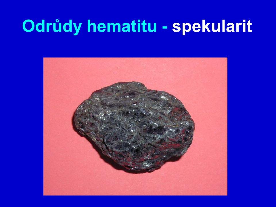 Odrůdy hematitu - spekularit