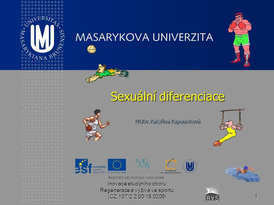 Sexuální diferenciace MUDr.Kateřina Kapounková