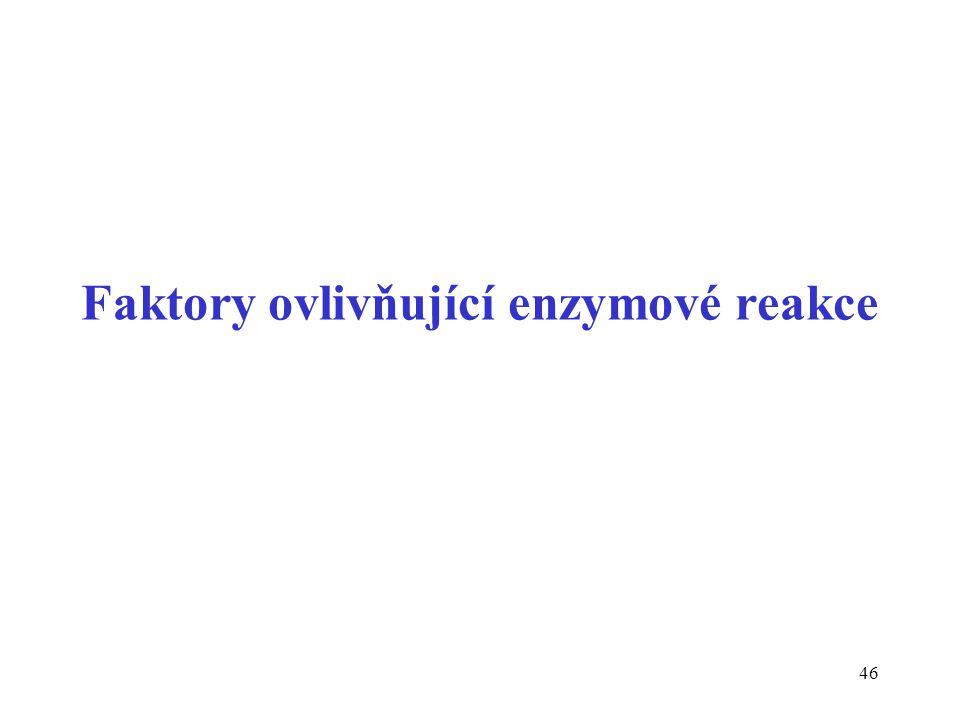 Faktory ovlivňující enzymové reakce